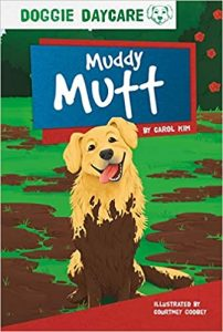 Mud spattered dog illustration